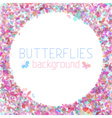 Colourful butterflies background vector image