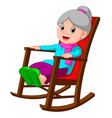 funny grandmother vector image
