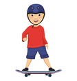 Of A Boy Skating vector image