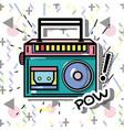 pop art radio patch design vector image