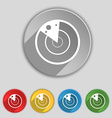 radar icon sign Symbol on five flat buttons vector image