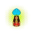 Samba girl icon comics style vector image