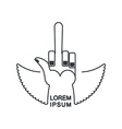 Tattoo logo Linear emblem hand with a finger vector image