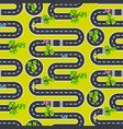 top view roads and streets seamless pattern vector image