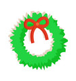 wreath with bow fluffy toy vector image