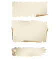 old paper banners vector image vector image
