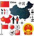China map vector image vector image