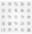 Productivity line icons set vector image