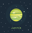 JUPITER space view vector image