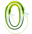 Green number 0 vector image vector image