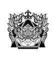 Lotus tattoo design vector image