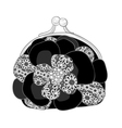 BlackPurseWithWhiteLace vector image vector image