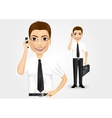 business man talking on the phone vector image vector image