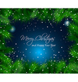 Elegant Christmas Themed with snow vector image vector image