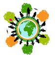 tree world children vector image vector image