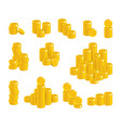 coins of gold in stacks vector image