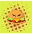 danger burger monster pop art design vector image
