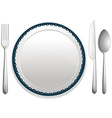 Dining set vector image