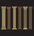 elegant classic roman greek architecture line and vector image