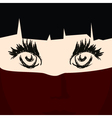 Face of a Young Girl under a Veil vector image