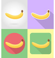 fruits flat icons 13 vector image