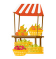 stand with fruit cartoon vector image