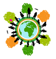 tree world children vector image