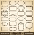 vintage ornate borders set of 24 vector image