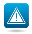 Warning sign icon simple style vector image
