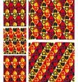 Elegant Hearts Seamless patterns vector image