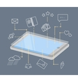 Phone display and mobile icons vector image