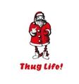 Santa Claus shows fuck Thug life vector image