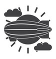 airship icon vector image