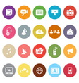 Media flat icons on white background vector image