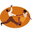 Dancing jitterbug vector image