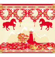 Chinese Mid Autumn festival and New year design vector image vector image