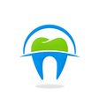 dentist teeth abstract logo vector image