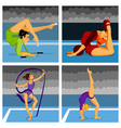 gymnast girls vector image vector image