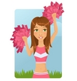 cheerleader girl vector image
