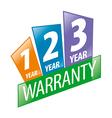 logo 1 2 3 year guarantee vector image