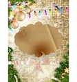 Gold Festive Christmas background EPS 10 vector image vector image