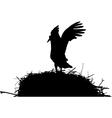 stork on nest vector image
