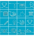 Business OutLine Set vector image