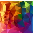 Abstract triangles colorful background vector image