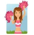 cheerleader girl vector image