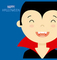 child disguised as a vampire vector image