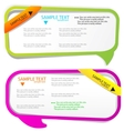 colorful bubble for speech website elements vector image