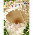 Gold Festive Christmas background EPS 10 vector image