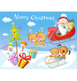 Merry Christmas design with Santa Claus Sleigh vector image