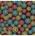 Seamless pattern with furry balls vector image